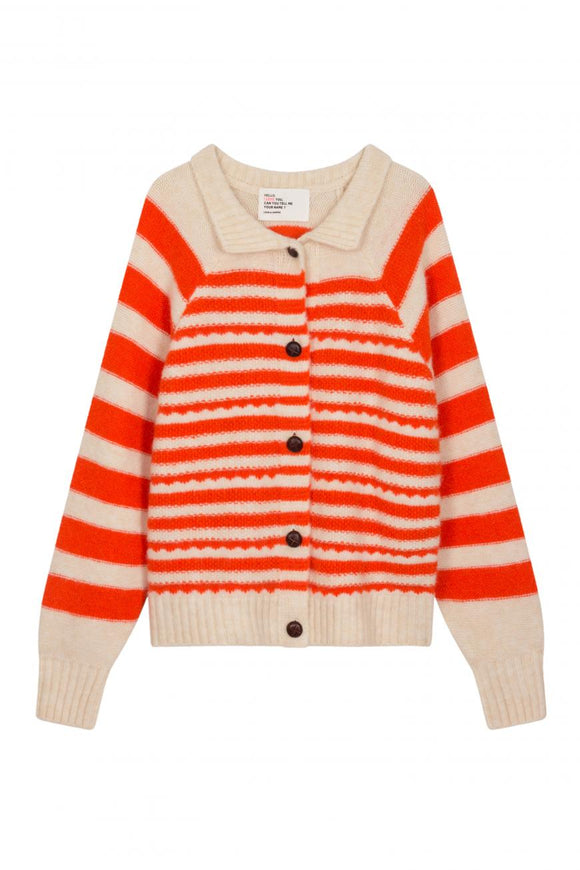 Leon & Harper - Marche Orange Stripe Cardigan