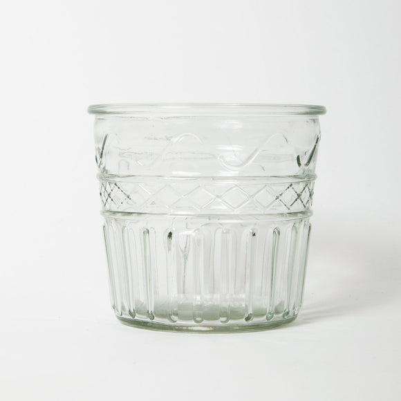 Grand Illusions - Vintage Glass Flower Pot Small Design 4