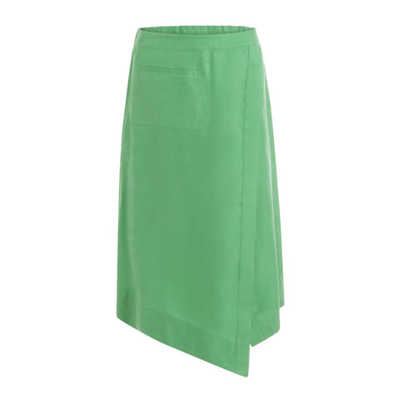 Coster Copenhagen Emerald Green Asymmetric Skirt