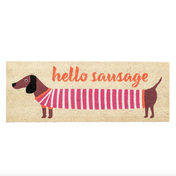 Bombay Duck London - Hello Sausage Long Doormat