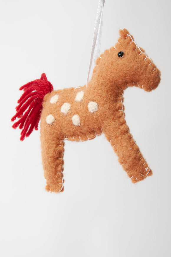 Gisela Graham - Felt Horse Tree Decoration