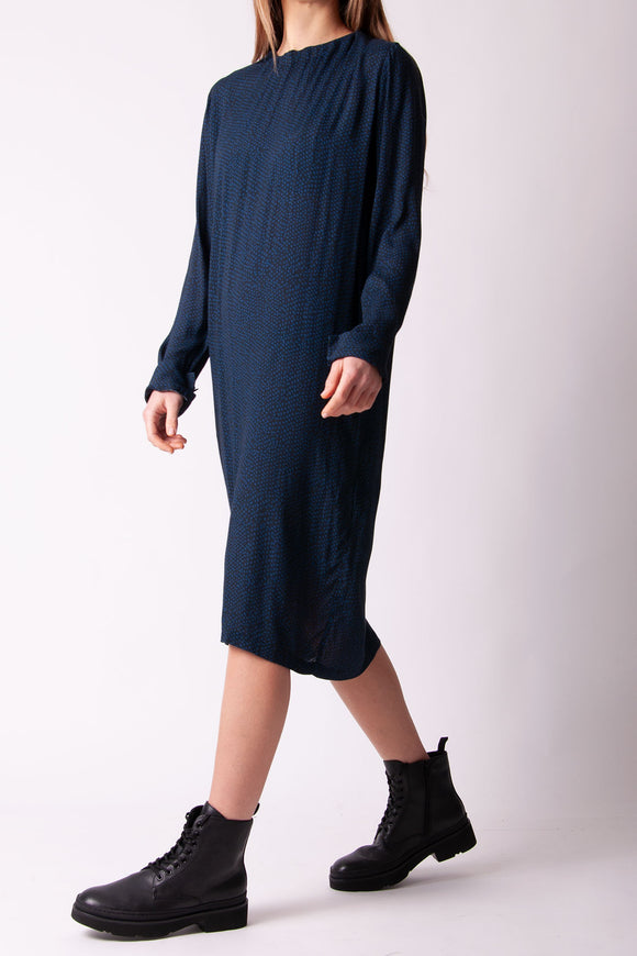 Humanoid - Navy Polka Dot Dress