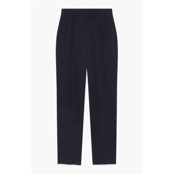 American Vintage Didaboo High Waist Trousers in Navy