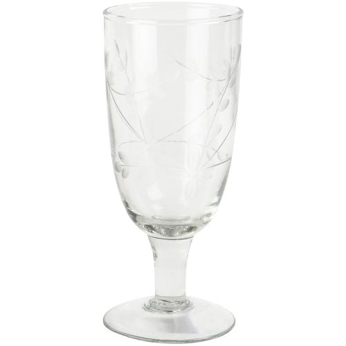 Grand Illusions - Champagne Glass Vintage Flowers