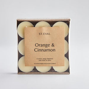 St Eval Orange & Cinnamon scented Tealight Candles