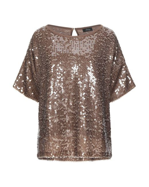 Ottod'Ame - Lum Bronze Sequin Top