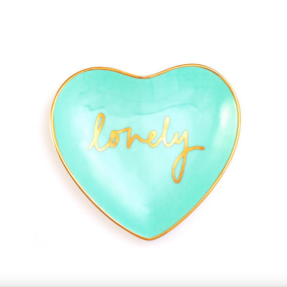 Bombay Duck - Darling! Heart Trinket Dish Lovely Aqua