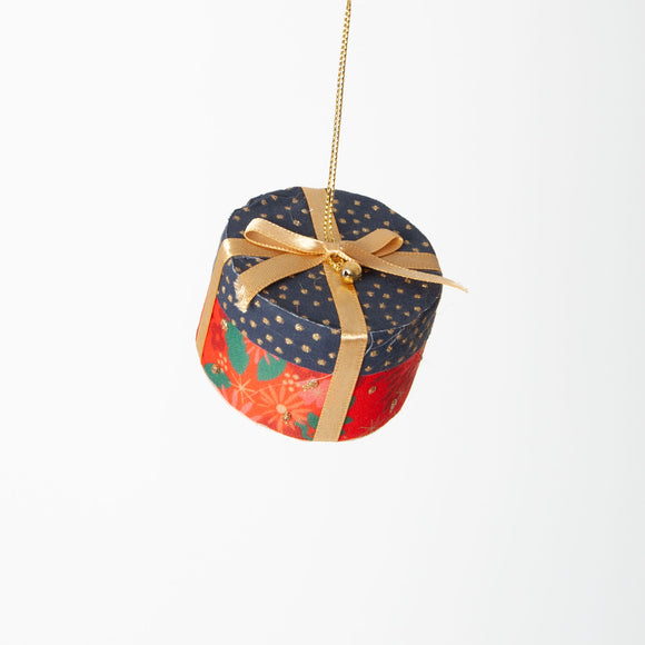 Gisela Graham - Christmas Present Tree Decoration in Gold