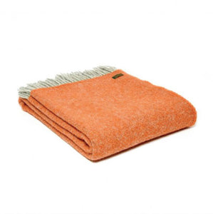 Tweedmill - Pure New Wool Throw Boa in Pumpkin