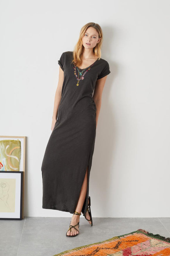 Leon & Harper - Reinou Palm Dress Carbone