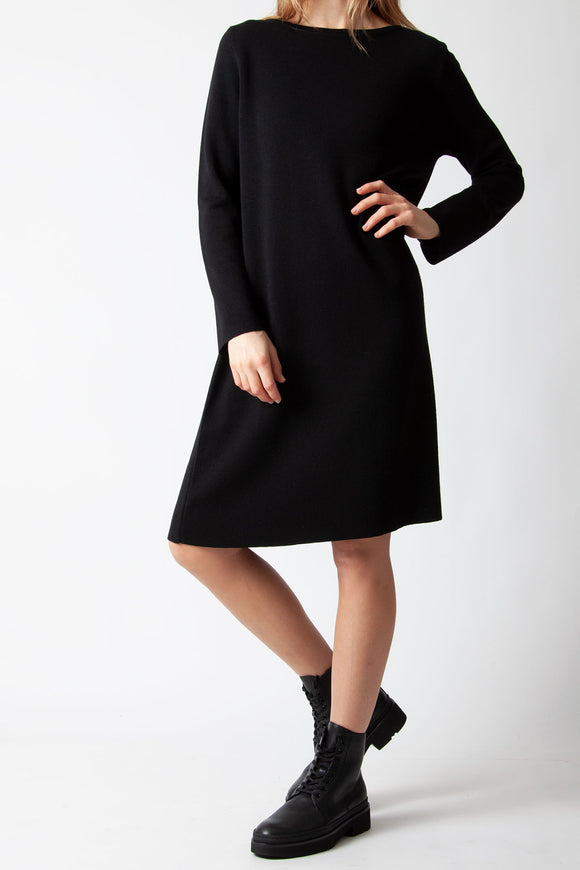 Rosso35 - Wool Dress in Black