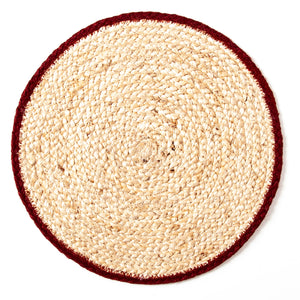 Set of 6 Calypso Jute Placemats in Ruby