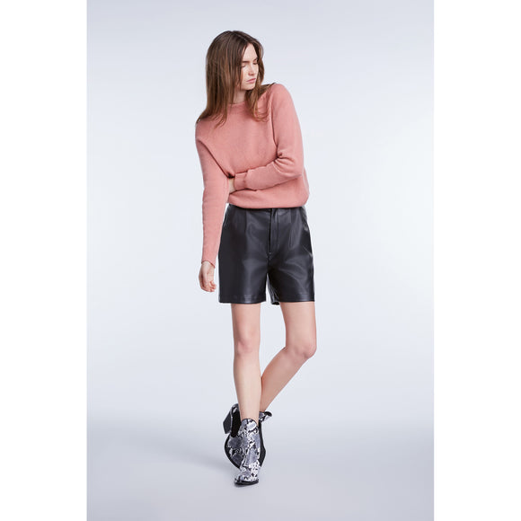 Set Fashion Oversized Roll Neck Rose Jumper