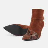 Shoe The Bear Vanessa Fold Down Brown Leather Boots