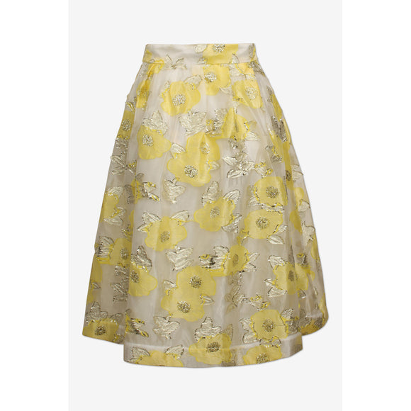 Baum Und Pferdgarten Satinka Skirt in Yellow Floating Flowers