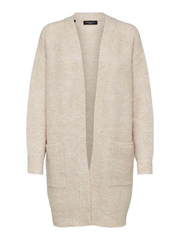 Selected Femme - Long Knit Cardigan - birch