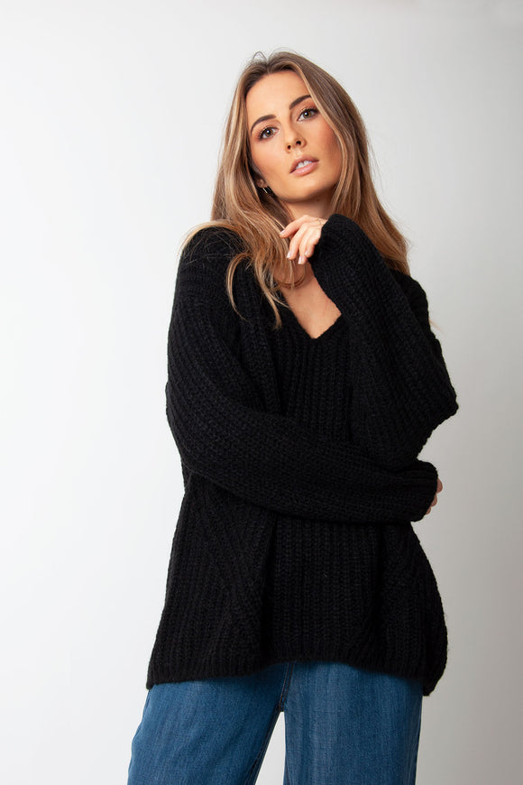 Set Fashion - Black Knitted Jumper