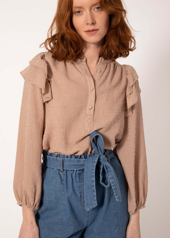 FRNCH Paris - Charme Top Ocre