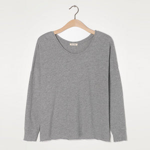American Vintage - Sonoma Long Sleeve T-Shirt in Heather Grey