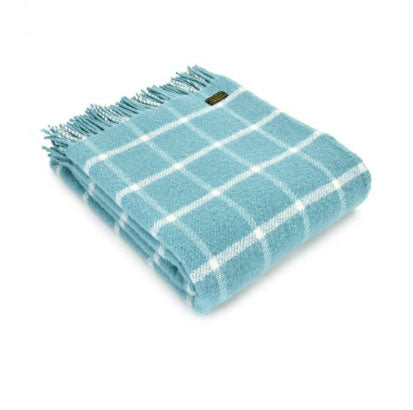 Tweedmill - Wool Check Throw in Spearmint