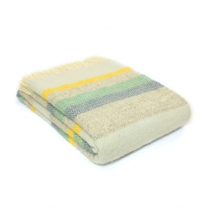 Tweedmill - Wool Illusion Stripe Throw in Horizon