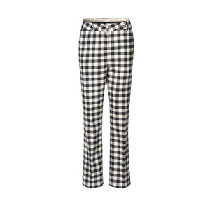 Levete Room Gymma Checked Black & White Trousers