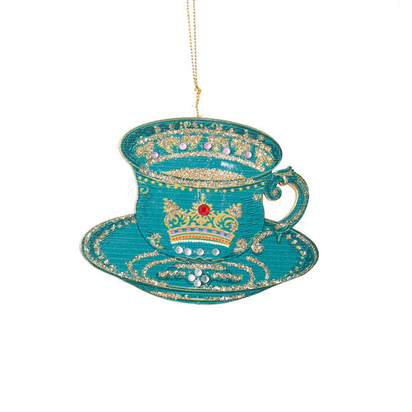 Gisela Graham - Teacup Tree Decoration in Blue