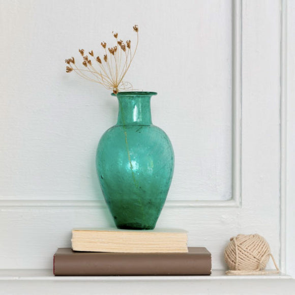 Grand Illusions - Chambal Vase Recycled Glass Teal