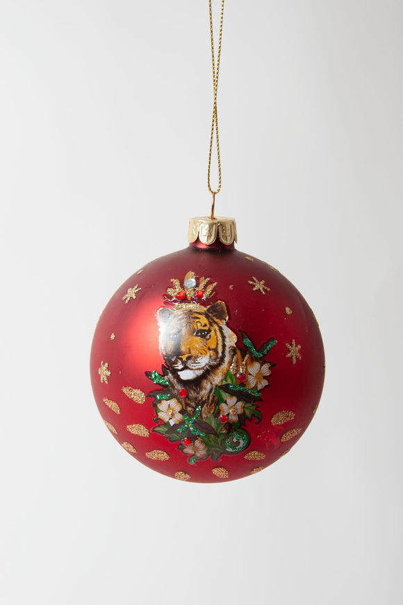 Red Tiger Bauble