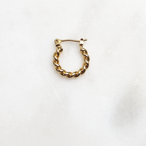 ByNouck - 1.5cm Twisted Hoop Earrings