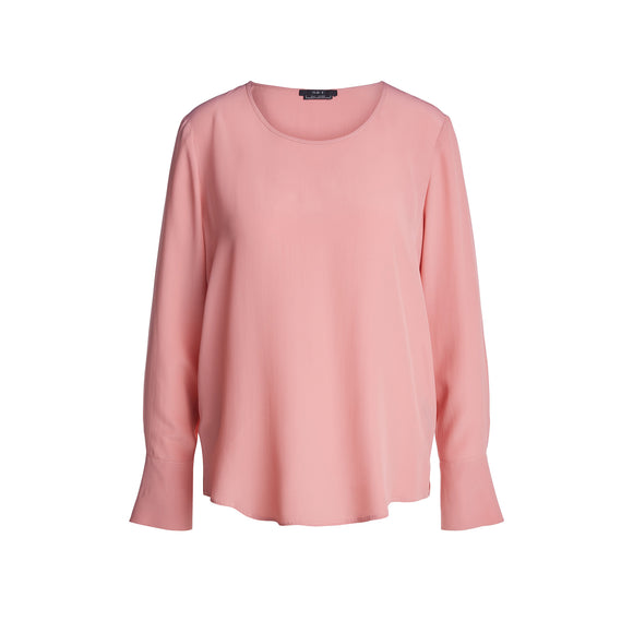 Set Fashion Peachy Rose Round Neck Blouse