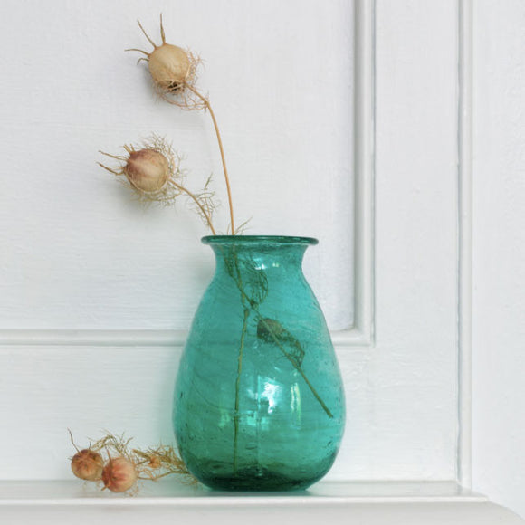 Grand Illusions - Padma Vase Recycled Glass Teal