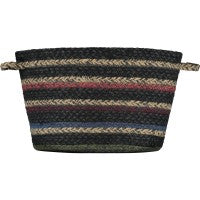 The Braided Rug - Utility Basket Winter Stripe Large