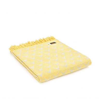 Tweedmill - Merino Wool Coastal Throw in Abersoch Lemon