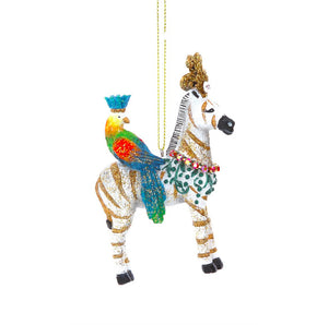 Gisela Graham - Regal Zebra Decoration with Bird