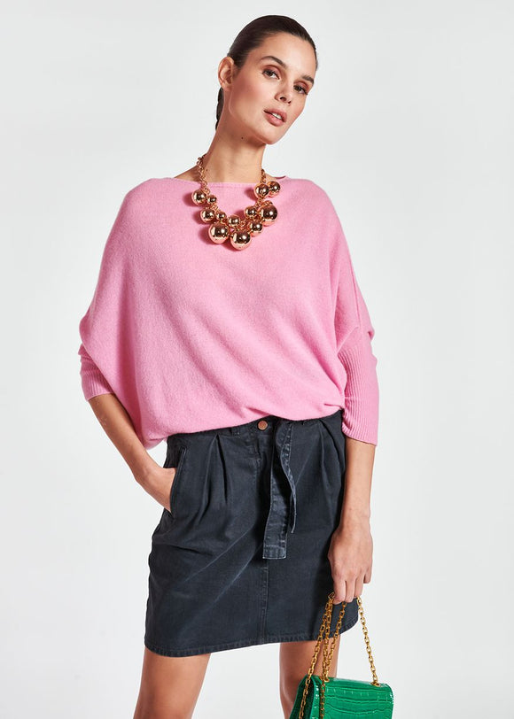 Essentiel Antwerp - Zinedo Merino Wool and Cashmere Sweater in Pink