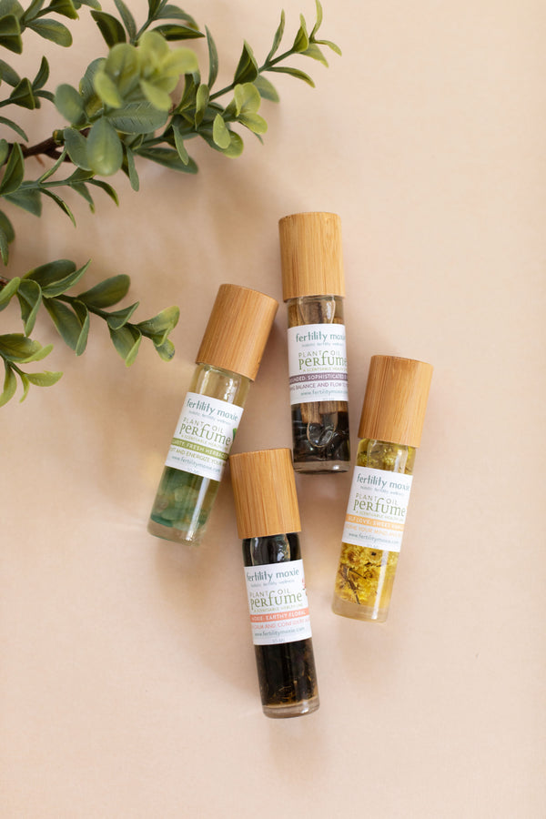 The Fertility Moxie Plant Oil Perfume Set-A Line from Scentsable Health