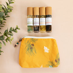 Pines in Sunset Bag with Fertility Moxie Plant Perfume Set- A Line from Scentsable Health