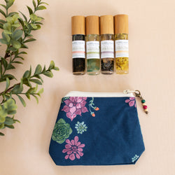 Desert Floral Bag with Fertility Moxie Plant Perfume Set -A Line from Scentsable Health