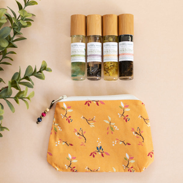 Honey Floral Bag with Fertility Moxie Plant Perfume Set-A Line from Scentsable Health