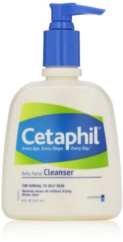 Cetaphil Daily Facial Cleanser, For Normal To Oily Skin, 8 Ounce