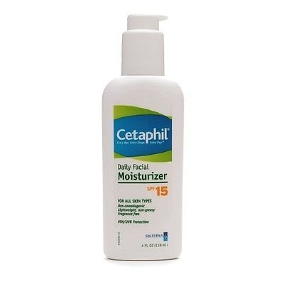 Cetaphil Daily Facial Moisturizer, Spf 15, Fragrance Free 4 Fl Oz (118 Ml) Good Product High Quality And Quick Shipment For Usa. Address !!