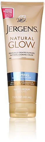 Jergens Natural Glow + Firming Moisturizer, Fair To Medium Skin Tones, 7.5 Ounce
