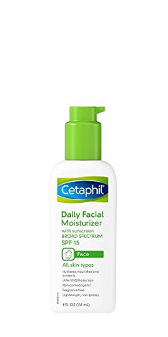 Cetaphil Fragrance Free Daily Facial Moisturizer, Spf 15, 4-Ounce Bottles