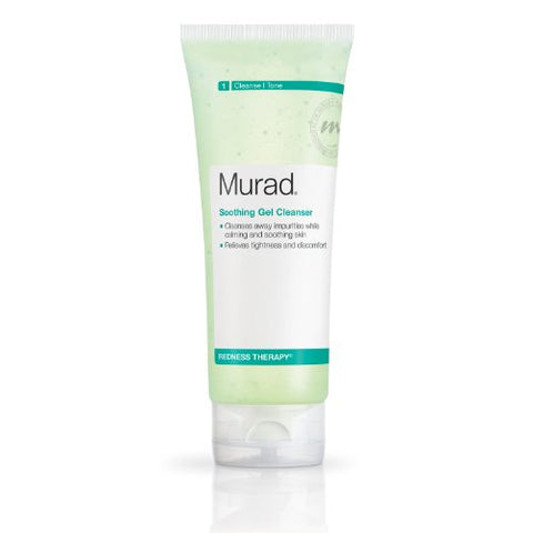 Murad Redness Therapy Soothing Gel Cleanser, Step 1 Cleanse/Tone, 6.75 Fl Oz (200 Ml)