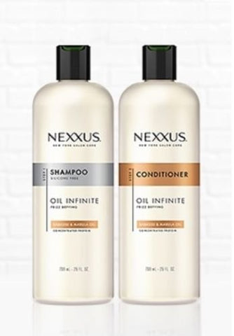 Nexxus Oil Infinite 25 Oz / 739 Ml Shampoo & Conditioner Set [Babassu Oil] (25 Oz / 739 Ml Shampoo & Conditioner Set)