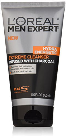 L'Oreal Paris Men'S Expert Hydra Energetic Charcoal Cream Cleanser, 5 Fluid Ounce
