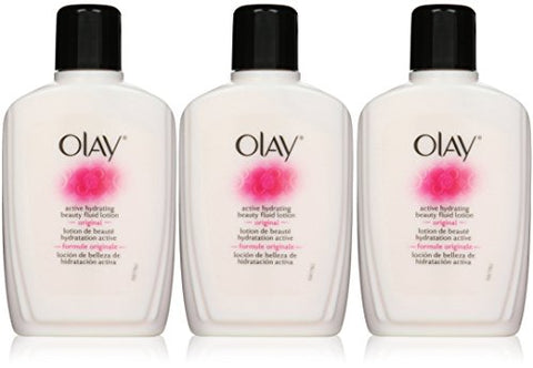 Olay Active Hydrating Beauty Fluid, Original, 6 Ounce, 3 Individual Pack