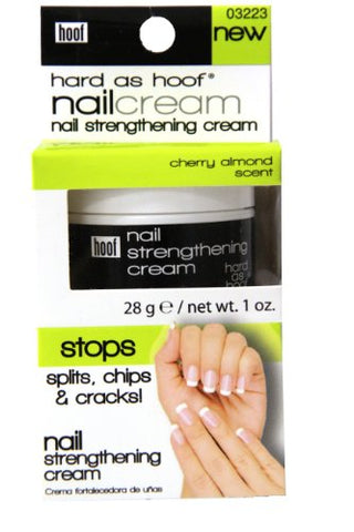 Hard As Hoof Nail Strengthening Cream With Coconut Scent Nail Strengthener & Nail Growth Cream Prevents Splits, Chips, Cracks & Strengthens Nails, 1 Oz