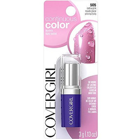 Cg Cntns Clr Lpstk Iceblu Size 0.13O Cover Girl Crded Continuous Color Lipstick 505 Iceblue Pink